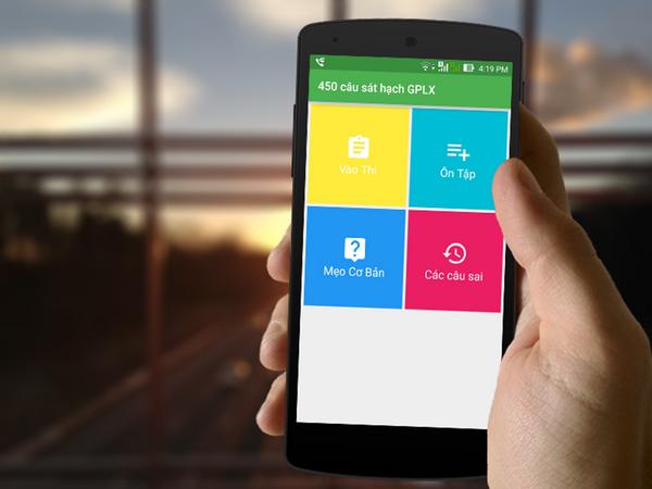phần mềm ôn thi trên smart phone